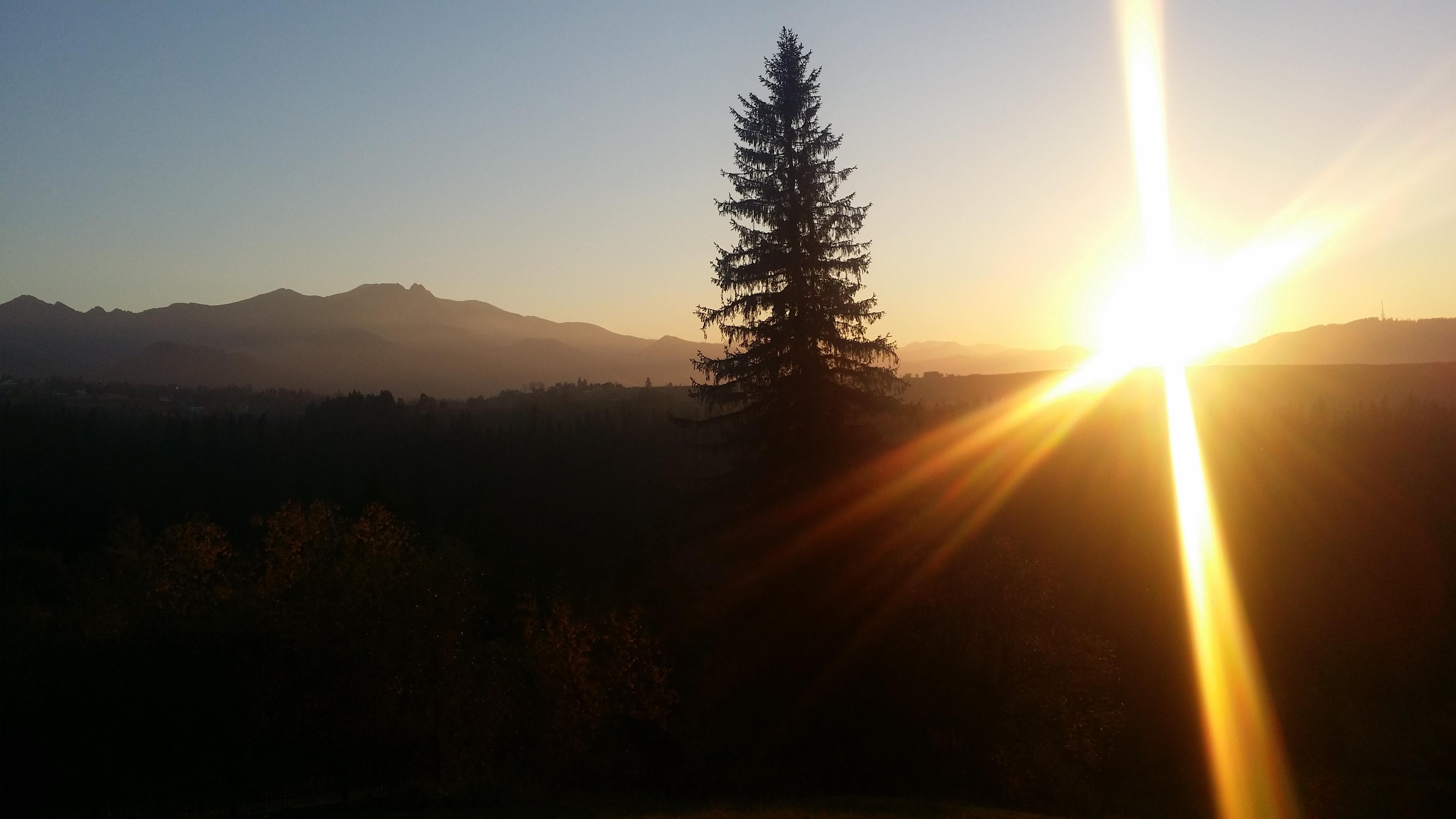 Zachód słońca w Murzasichlu
